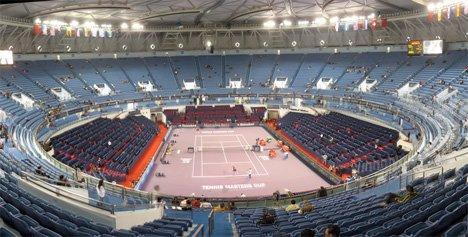 网球建筑:上海旗忠舞蹈体育城体育中心森林动态郑子瑜图片